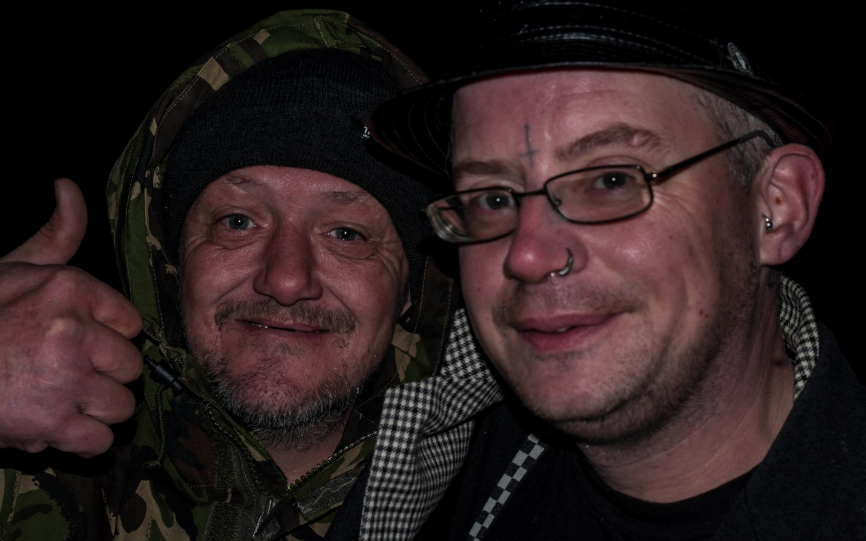 Two men at Hope Allotment Bonfire
