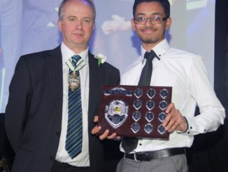 Star pupil receives his award