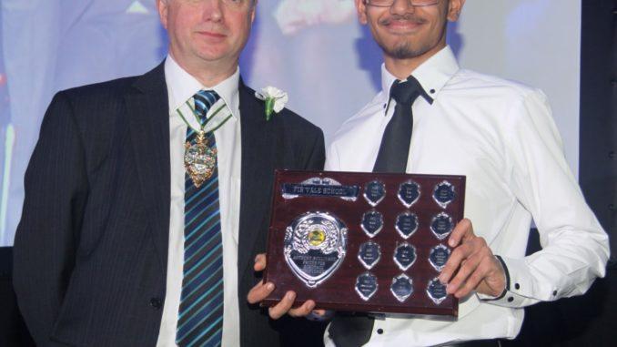 Star pupil receives his award