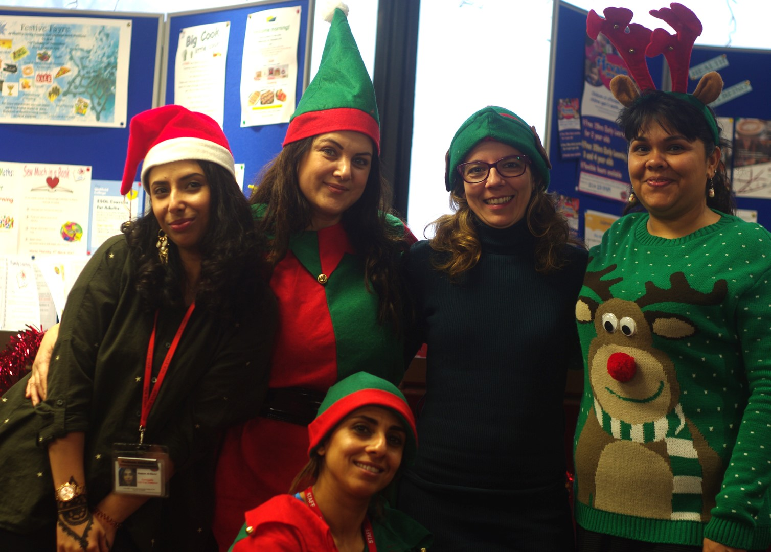 Usha Blackham and other volunteers at the Aspiring Communities Together Winter Fair.