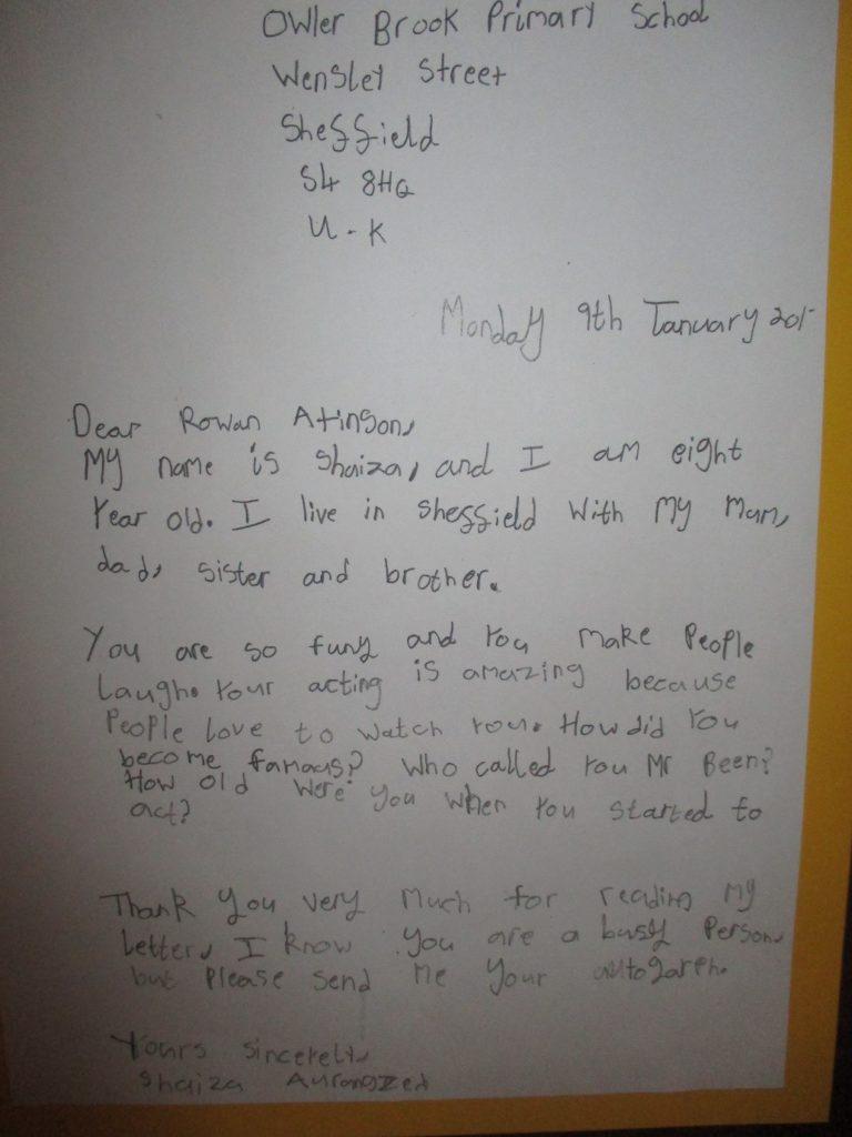 Dear Rowan Atkinson