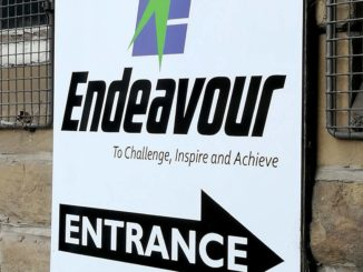Endeavour entrance sign
