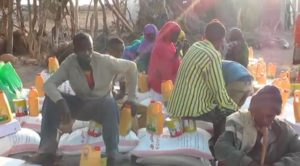 Somaliland people sat on a table