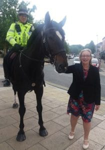 Gill and police horse