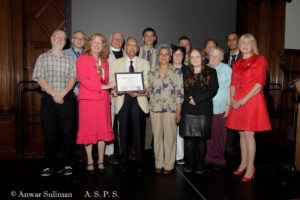 Burngreave Ashram receive their award from the mayor.