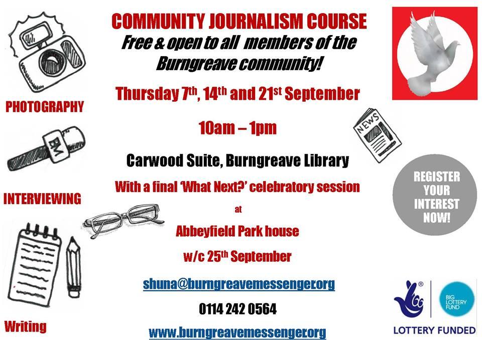 community journalism training poster