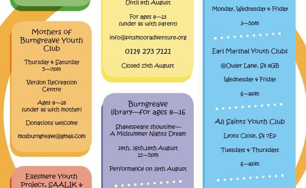 Summer events for young people 2017
