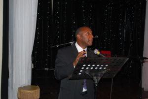 One male speaker