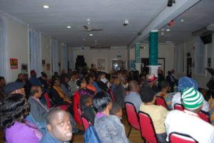 View of audience looking ahead