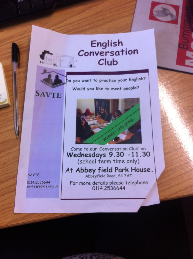 English Conversation Club (school term time only) @ Abbeyfield Park House