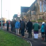 Interfaith walk at a mosque