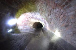 Bagley Dyke underground river tunnel.