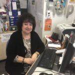 Library volunteer Margaret Betts.