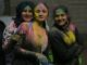 People dressed for Holi