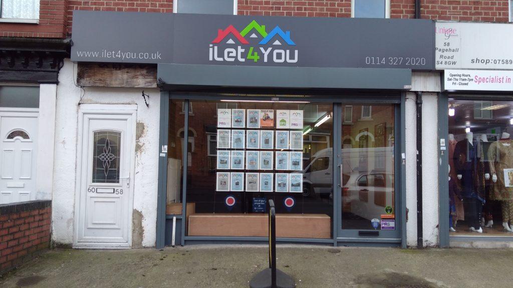 Letting agency shopfront