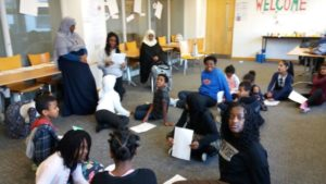 Children at the Shakespeare Showtime drama initiative.