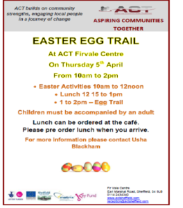Firvale Easter Egg Hunt @ ACT Firvale Centre