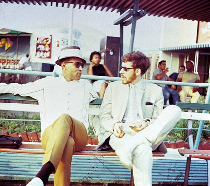 2 men ( Marvin Gaye sat beside David Godin)