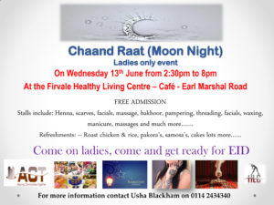 Chaand Raat (Moon Night) @ Firvale Healthy Living Centre Café