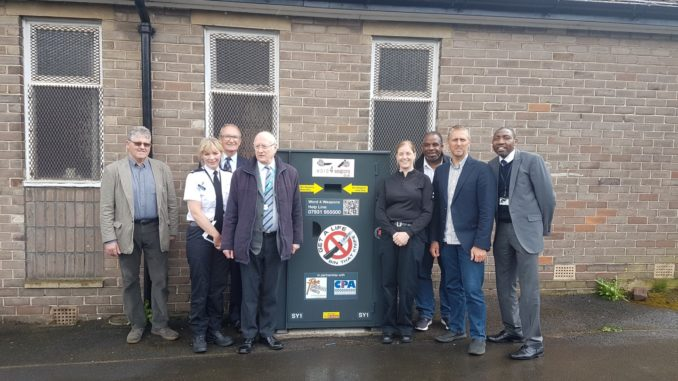 Opening of the first weapons bin in South Yorkshire.