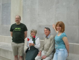 Mellors at the memorial