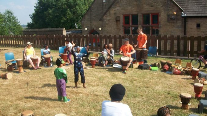 St Peter's fete drum workshop