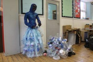 Artist Sarah Jane Palmer's art made from litter.