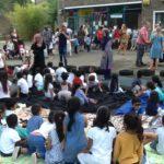 Children celebrating NHS at Abbeyfield Primary