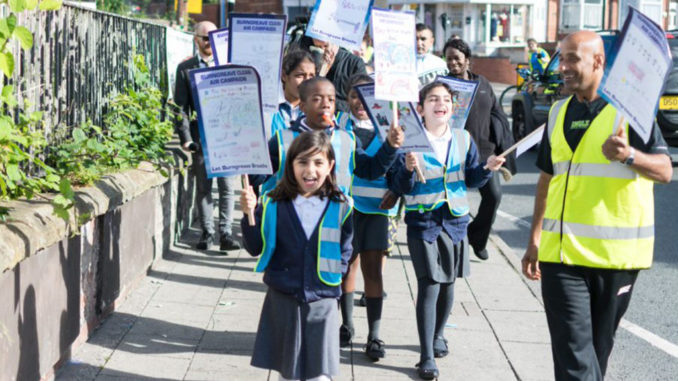 Children marching for Burngreave clean air