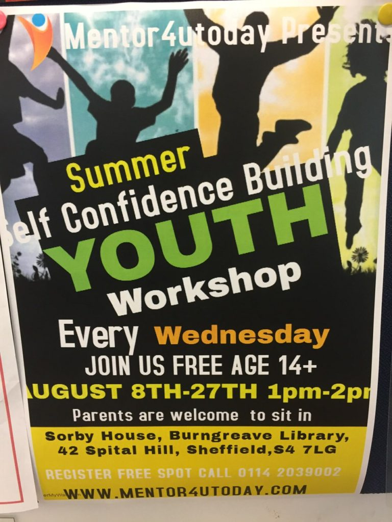 Library youth self-confidence building