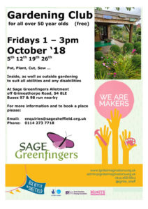 Gardening club for all over 50 year olds (free) @ SAGE Greenfingers allotment