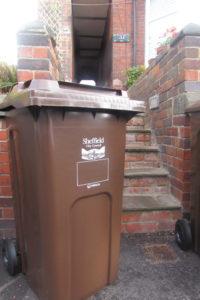 New brown bin