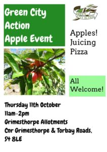 Apple Event with Green City Action @ Grimesthorpe Allotment