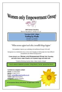 Women Only Empowerment Group @ Burngreave  Library, Sorby House