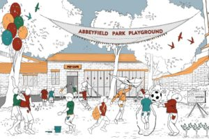 Children's playground sketch