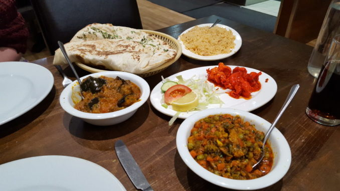 A serving of food at the Mangla.