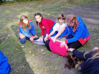 Guides go camping.