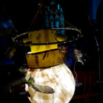 Moth and light bulb lantern