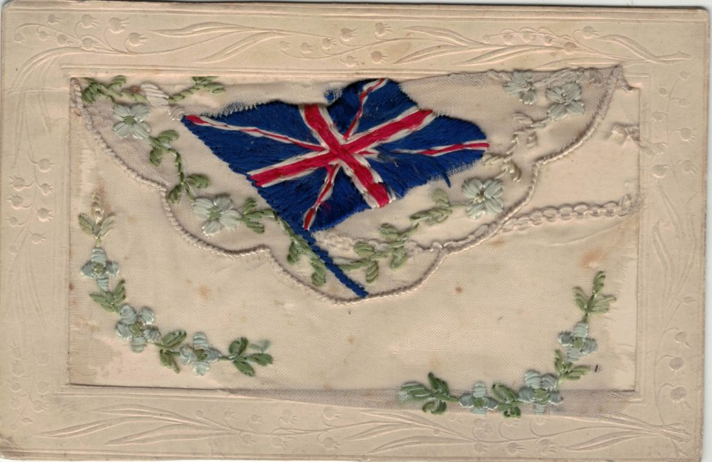 Silk Postcard Union Jack