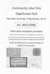 Community Litter Pick at Osgathorpe Park @ Osgathorpe Park