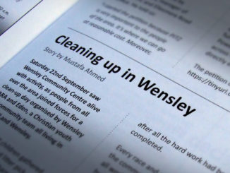 Cleaning up in Wensley.