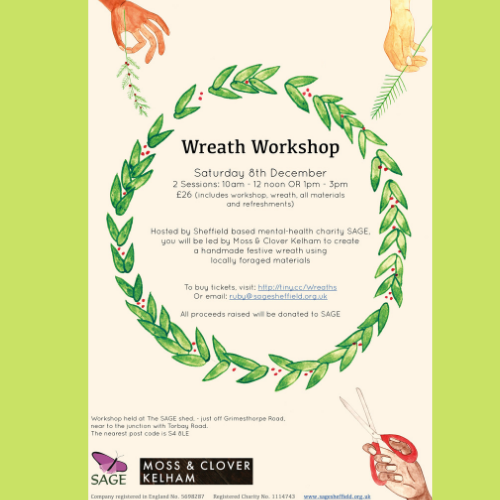Wreath workshop poster