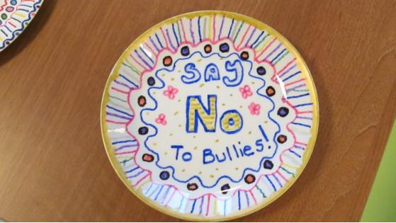 Deborah Blencowe Say No to Bullies Plate
