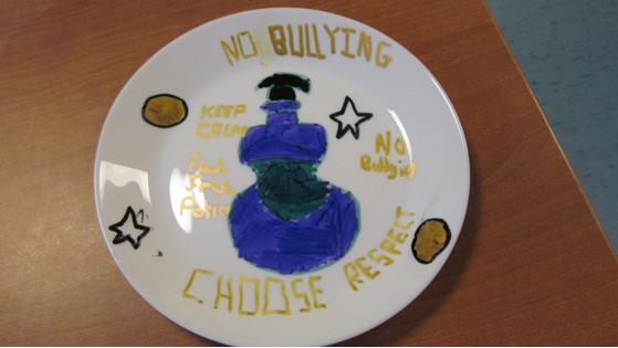 No Bullying, Respect Plate