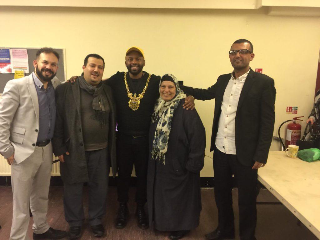 with Majid, Sheffield Mayor