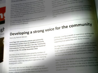 Developing a strong voice for the community