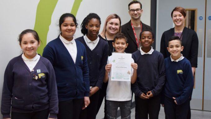 Principal and pupils at Oasis Fir Vale