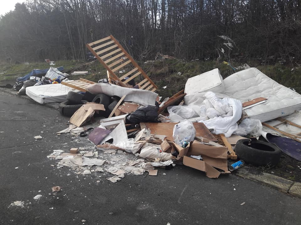 Fly-tippers waste space
