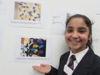 Astrea Pupil at Art Exhibition