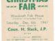 1947 poster for Christmas Fair